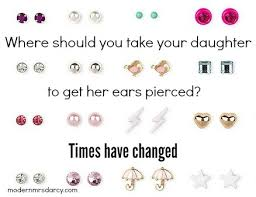 earring pierced pierced ears and parenting angst modern mrs darcy