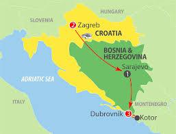 Zagreb Map K808z Zagreb To Dubrovnik 7 Day Escorted Tour