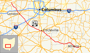 Columbus Ohio Maps by Ohio State Route 56 Wikipedia