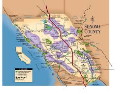 Sonoma State Map by Sonoma County Map 101 Things To Do Wine Country