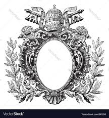 Old Fashioned Picture Frames Antique Frame Engraving Royalty Free Vector Image