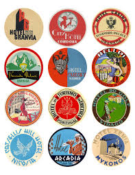 travel stickers images 12x vintage travel stickers spain portugal greece mix vintralab jpg