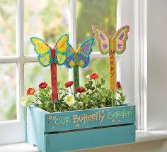 Garden Crafts For Children - diy perler butterfly garden markers fun summer craft for kids