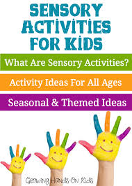 sensory activities for children growing on
