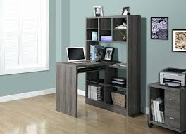 small floating desk small floating desk grey and wood for home