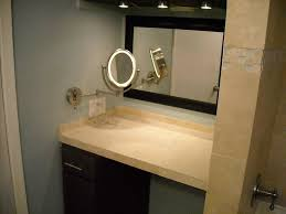 Design Ideas For Brushed Nickel Bathroom Mirror Bathrooms Design Lighted Oval Vanity Mirror Plug In Brushed