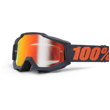 goggles for motocross 100 accuri gunmetal goggle mirror lens sixstar racing