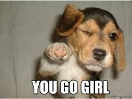You Go Girl Meme - you go girl puppy love quickmeme