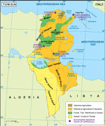 tunisia map tunisia vegetation map order and tunisia vegetation map