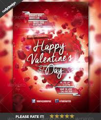 valentines flyer template happy day flyer template design by rudydesign graphicriver