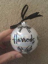 harrods glass tree ornaments ebay