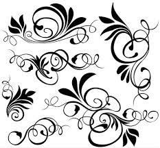 ornamental floral elements vector ai format free vector