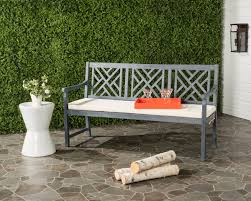 Safavieh Home Furnishing Pat6738b Garden Benches Outdoor Home Furnishings Furniture By