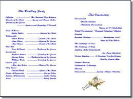 Example Of Wedding Programs Sample Of Wedding Invitation Program Wedding Invitation Sample