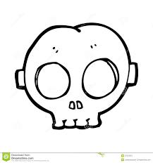 Skull Mask Halloween Cartoon Halloween Skull Mask Royalty Free Stock Image Image