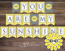 You Are My Sunshine Decorations Sunshine Decorations Etsy
