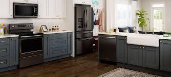 kitchen with stainless steel appliances fingerprint resistant black stainless steel matte black kitchen