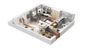 40 square meter apartment design in rome 3d