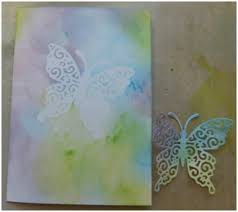 hello butterfly creating an inked shadow background think