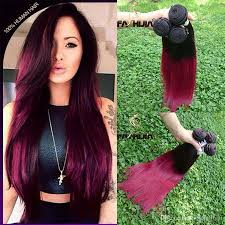 ombre hair weave african american burgundy red ombre brazilian hair bundles extensions 10 30 stock