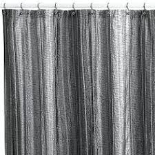 Grey Metallic Curtains The Infinity Fabric Shower Curtain Features A Metallic Grey