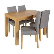 ebay dining table and 4 chairs home pemberton oak veneer dining table 4 chairs grey from argos