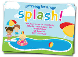 pool invite printable pool invite pool