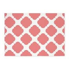 Coral Area Rugs Coral White Geometric Pattern 5 X7 Area Rug