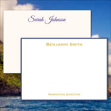 classic personalized flat cards raised ink stationery eg7098
