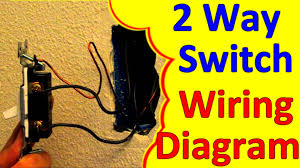 2 way light switch wiring wiagrams how to wire install youtube
