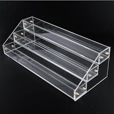2017 3 tier 30 bottles clear acrylic display stand rack organizer