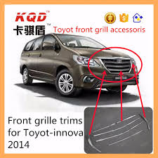 Car Decoration Accessories Abs Chrome Side Mirror Rain Guard For Toyota Innova Car Decoration