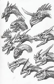 dragon sketches 03 by dsil on deviantart
