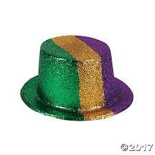 mardi gras hat gras glitter top hats