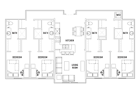 4 bed floor plans floor plans cardinal towne student housing louisville ky
