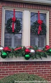 Decoration For Christmas House by Best 25 Christmas Window Boxes Ideas On Pinterest Winter Window