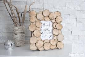 Rustic Diy Home Decor Diy Upcycled Wood Round Photo Frame Lemon Thistle