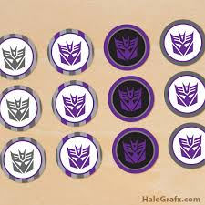transformer cake toppers printable transformers cupcake toppers