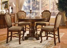 Round Formal Dining Room Tables Furniture Counter Height Table Sets For Elegant Dining Table