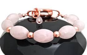 rose crystal bracelet images Rose quartz love energy healing crystal copper reiki clasp jpg