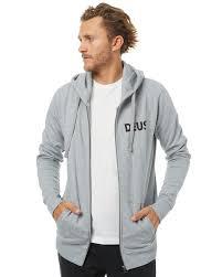 deus ex machina concentric mens zip hoodie grey marle surfstitch