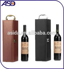 wine bottle gift box wholesale hot selling business concise black brown wine gift box wine boxes