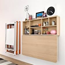 space saving wall mounted dining table