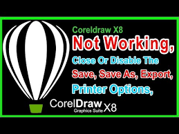 corel draw x6 has switched to viewer mode draw x8 not working disable save export printer urgent coreldraw