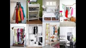 14 smart storage tricks for a bedroom with no closets youtube