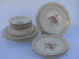 vintage china with pink roses vintage homer laughlin pottery pattern h49n6 pink roses china