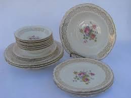 homer laughlin vintage vintage homer laughlin pottery pattern h49n6 pink roses china