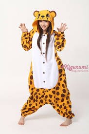 Halloween Animal Costumes Adults Cheetah Onesie Animal Costumes Kigurumi Pajamas 4kigurumi