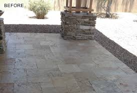 Travertine Patio Travertine Cleaning And Sealing Services Phoenix Az