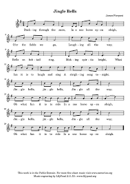 jingle bells vocal line voice sheet cantorion free